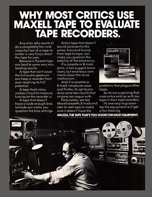 Audio AD 1978 Advertising Maxell Tape Sound Equipment Engineer Reel to Reel - Paperink Graphics