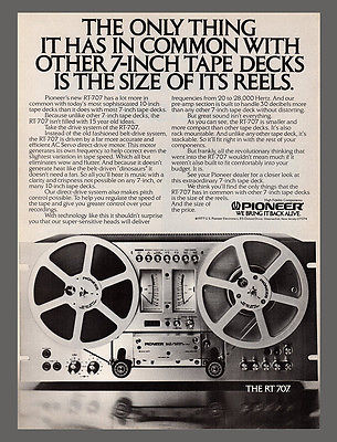 Audio AD 1978 Advertising PIONEER Reel to Reel Tape Deck RT 707 Photo Advert - Paperink Graphics