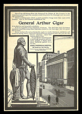 General Arthur Cigar 1900 AD Tobacco City Delivery Wagon Collectible Advertising - Paperink Graphics