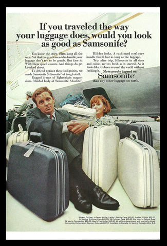 Vintage Samsonite Luggage Suitcases 1969 Travel Collectible Advertising Print AD - Paperink Graphics