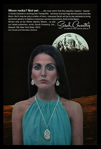 1969 Sarah Coventry Fashion Jewelry MOON rocks? Vintage Advertising Art Print AD - Paperink Graphics