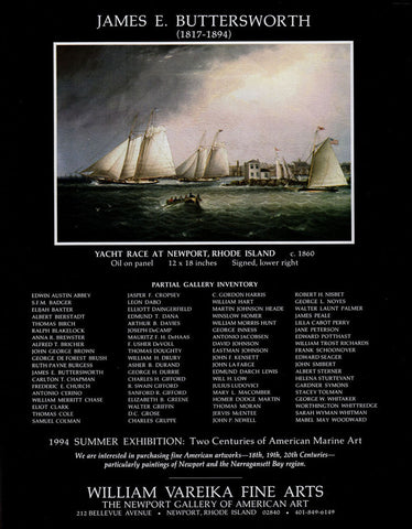 Yacht Race Newport RI Marine Arts James E. Buttersworth Artist 1994 Gallery AD - Paperink Graphics