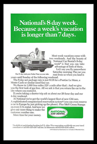 1973 Automobile National Car Rental Vintage Ad Travel Industry Advertisement - Paperink Graphics