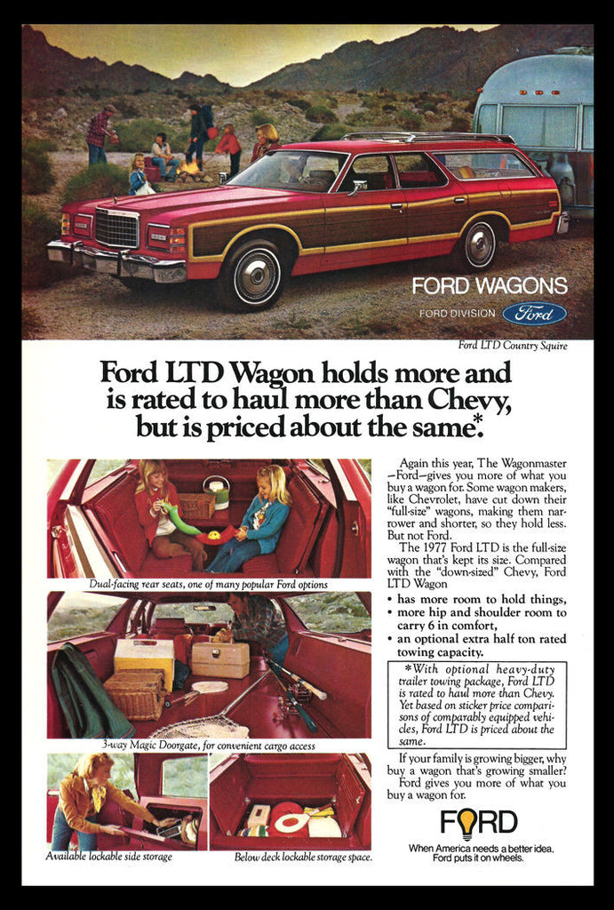 1977 Ford Wagon AD Ford LTD Country Squire RED Automobile Car Auto Advertisement