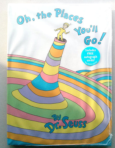 HOLD Ebay DR. SEUSS Oh, the Places You'll Go! Hardcover Book + Autograph Cards New SEALED - Paperink Graphics