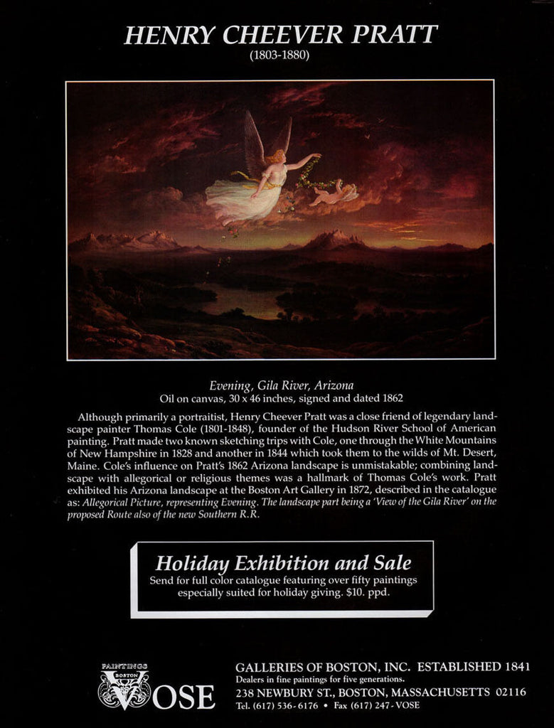 Angel Arizona Landscape Evening, Gila River Henry Cheever Pratt 1994 Gallery AD - Paperink Graphics