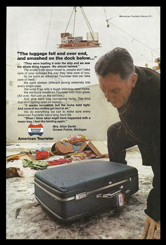 American Tourister Vintage Luggage Suitcase AD 1969 Travel Tourism Advertisement - Paperink Graphics