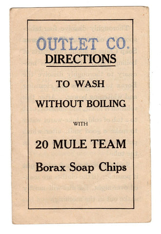 Borax Soap Chips 20 Mule Team Ephemera Outlet Co 1910 Textiles Wash Instructions - Paperink Graphics