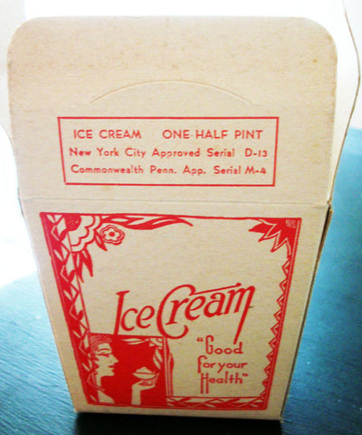 ICE CREAM Box Nouveau Packaging Antique Ice Cream Half Pint Container Dairy Graphic Arts - Paperink Graphics