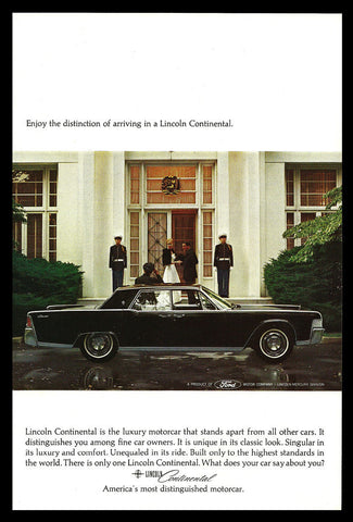 Ford Lincoln Continental Automobile Car 1965 Vintage Auto Advertising Print AD - Paperink Graphics