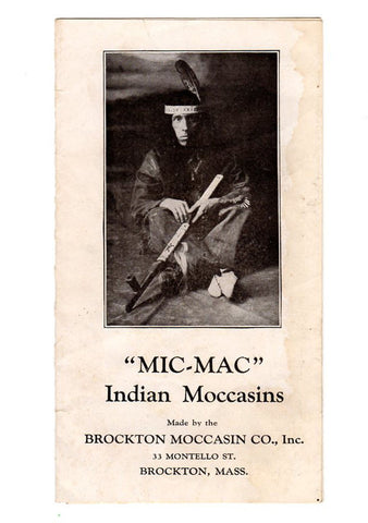 Brockton Moccasin Co. Inc MA Indian Moccasins Advertising Shoes Slippers Handbill