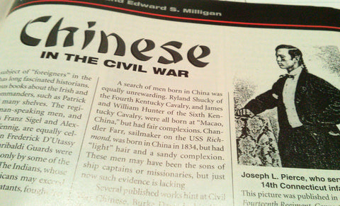 Chinese in the Civil War Article in North & South Magazine 1999 Photos Reference