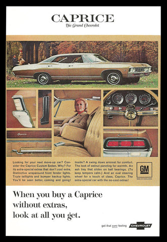 Chevrolet Caprice Custom Sedan Advertisement 1967 Car Auto Automobile Vintage AD - Paperink Graphics