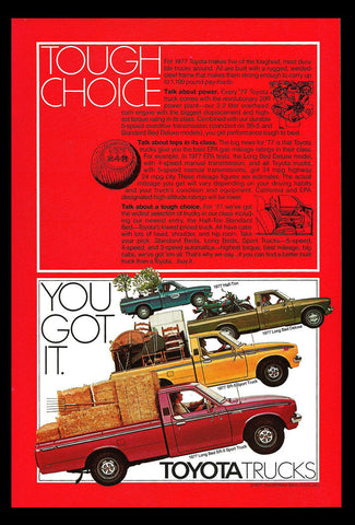 1977 Ad TOYOTA Truck Half-Ton, Long Bed Deluxe, SR-5 Sport Long Bed SR-5 Sport - Paperink Graphics