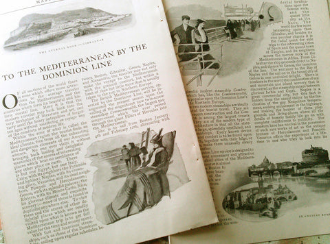 Ocean Liner Advertising Article 1901 Commonwealth Steamship Dominion Line AD