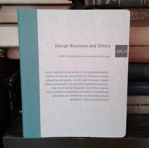 AIGA Design Business and Ethics Series 1-9 Booklets Binder b9 American Institute of Graphic Arts