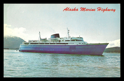 Alaska Marine Highway Postcard Fleet 3 Ferries SE Alaska AK PC