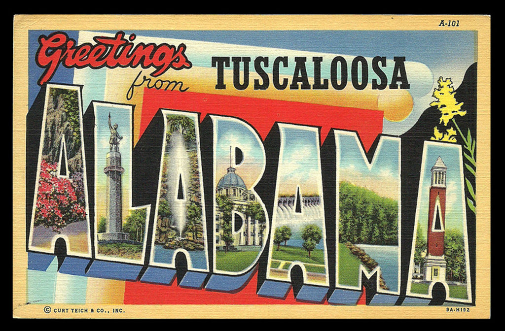 Alabama Large Letter Postcard Greetings from Tuscaloosa Scenic Letters AL PC