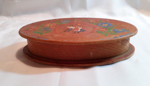 Bavarian Handpainted Folk Art Bauernmalerei Wooden Floral Box Hand Painted Wood