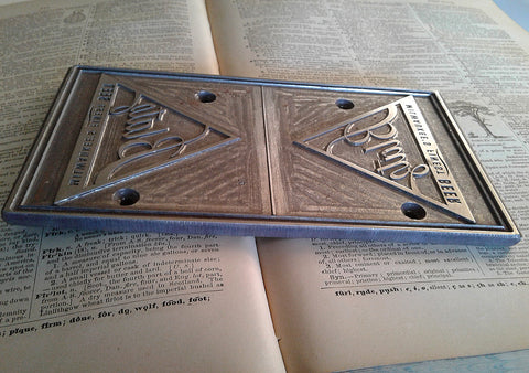 Letterpress Printing Block BLATZ Beer Milwaukee's Finest Brewer Advertising Logo - Paperink Graphics
