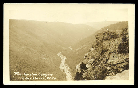 Blackwater Canyon Real Photo Postcard West Virginia near Davis WV RPPC