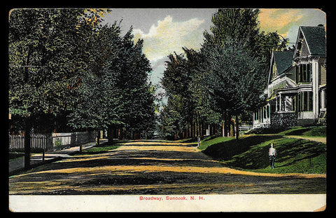 Broadway Boy Postcard New Hampshire 1918 Suncook Dirt Road NH PC