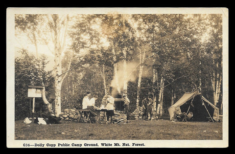 Dolly Copp Public Camp Ground Photo Postcard 1923 New Hampshire White Mts Camp  NH PC
