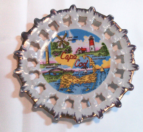 Cape Cod State Map Souvenir Plate Decorative Wall Hanging Home Decor Collectible