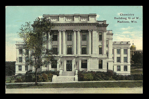 Chemistry Building Postcard 1911 University Madison Wisconsin WI PC