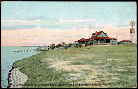 New Smyrna Florida Postcard Coronado Beach Halifax River Side