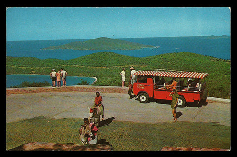 Drakes Seat Postcard Tour Donkeys Magens Bay St Thomas Virgin Islands VI PC