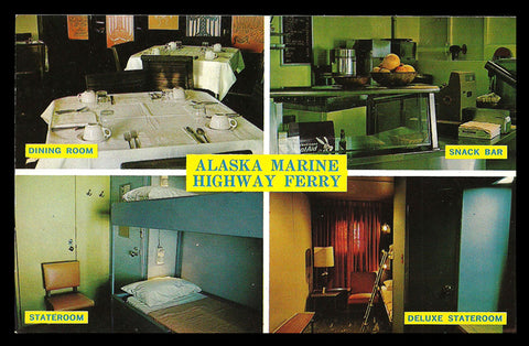 Alaska Ferry Postcard Marine Highway Interior Multiview Alaska  AK PC