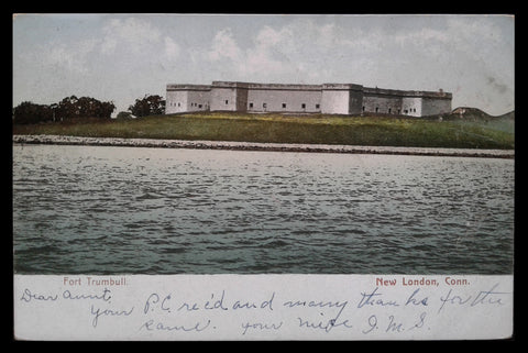 Fort Trumbull Postcard Connecticut 1906 New London Military CT PC