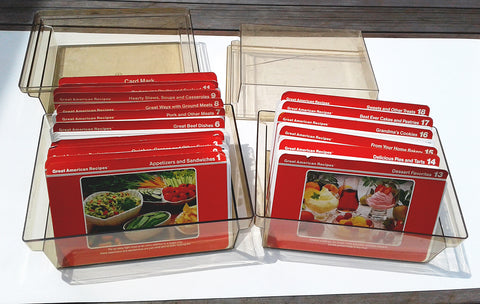 Great American Recipes Card Collection 2 Cases Food Dessert 500+ Recipe Cards 1980s Vintage Home Living Food Cooking