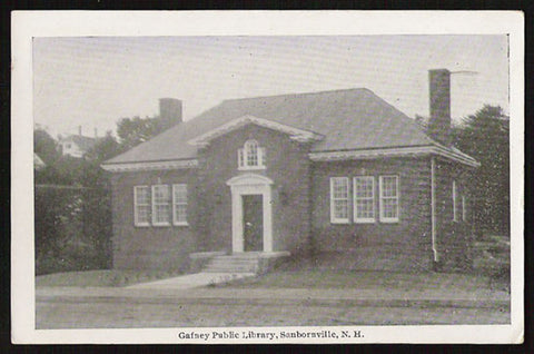 Gafney Public Library Postcard 1944 New Hampshire Sanbornville NH PC