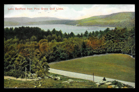 Golf Links Postcard New Hampshire 1910 Lake Spofford Pine Grove Golf Links NH PC