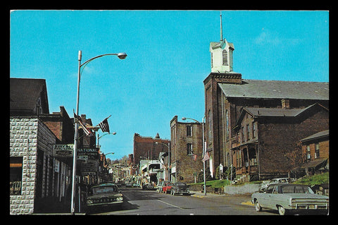 Grafton Downtown Postcard West Virginia Mothers Day Church Storefronts Roadside WV PC
