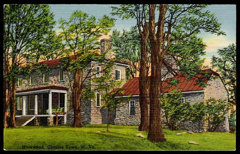 Harewood Postcard West Virginia Charles Town Samuel Washington Home 1770  WV PC