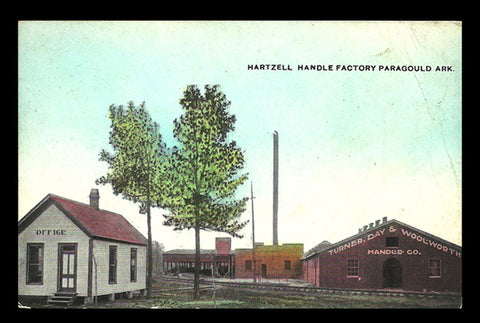 Hartzell Handle Factory Postcard Arkansas Paragould AR PC