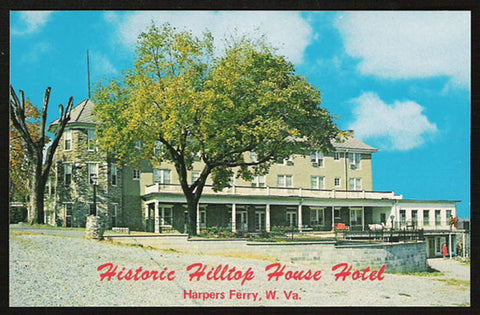 Hilltop House Hotel Postcard West Virginia Harpers Ferry Historic Inn WV PC