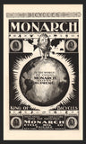 Antique 1896 Monarch Bicycles AD Fierce LION Graphic Arts Illustration Magazine Advertisement Earth Globe King of Bicycles Advertisement - Paperink Graphics