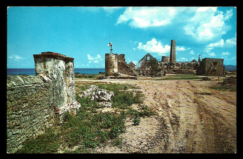 Judiths Fancy Ruins Postcard Virgin Islands Ruins St Croix  VI PC