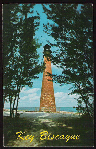 Key Biscayne Lighthouse Postcard Cape Florida Lighthouse