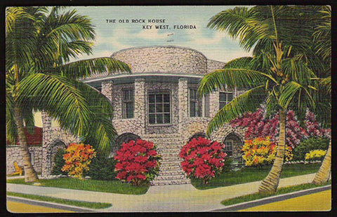 Old Rock House 1946 Postcard Key West Florida
