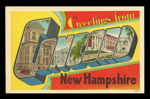 Concord New Hampshire Postcard Greetings Scenic Large Letter NH PC