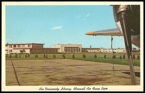 Maxwell Air Force Base Postcard Alabama Montgomery Air University Library AL PC
