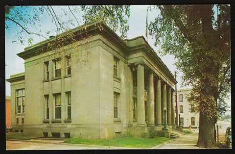 Post Office Postcard West Virginia Moundsville 1915 Constructed Columns Limestone Granite  WV PC