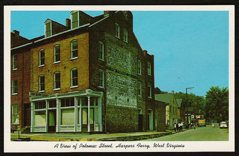Potomac St Storefront Postcard West Virginia Harpers Ferry WV PC