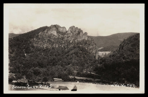 Seneca Rocks Real Photo Postcard West Virginia  Route 5 West Virginia WV RPPC