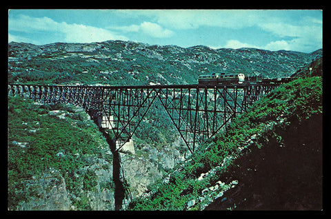 Railroad Steel Bridge Postcard Alaska Klondike Gold Rush AK PC